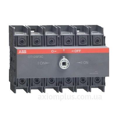 Модульный перекидной 3P рубильник 1-0-2 на 100А ABB 1SCA105008R1001