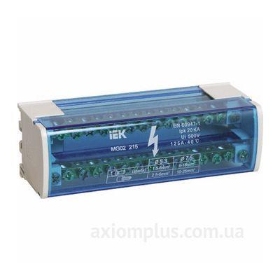 Шина (N) 2х15 125А (30 контактов контактов) (серый цвет) фото
