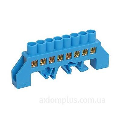 Шина (N) ШНИ-8х12- 8-КС-C 125А (8 контактов контактов) (синий цвет) фото