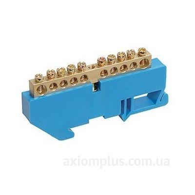 Шина (N) ШНИ-8х12-10-Д-C 125А (10 контактов контактов) (синий цвет) фото