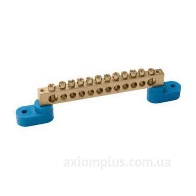 Шина (N) ШНИ-6х9-10-У2-C 100А (10 контактов контактов) (синий цвет) фото