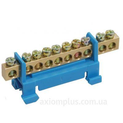 Шина (N) ШНИ-6х9-12-С-C 100А (12 контактов контактов) (синий цвет) фото