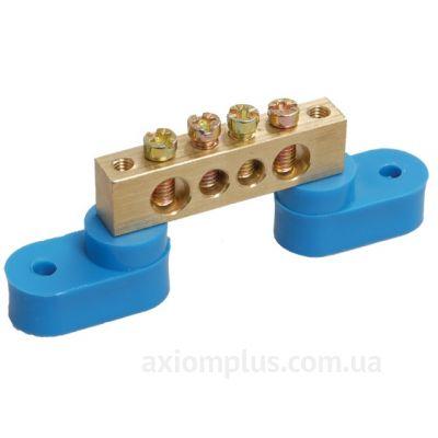 Шина (N) ШНИ-6х9-4-У2-C 100А (4 контакта контактов) (синий цвет) фото
