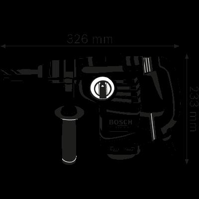 габариты Bosch GBH 3-28 DRE Professional