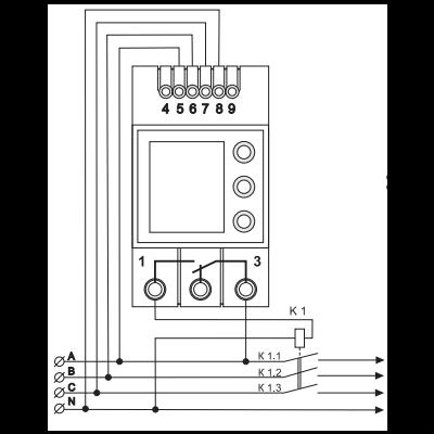 схема подключения реле Vp-380 DigiTOP