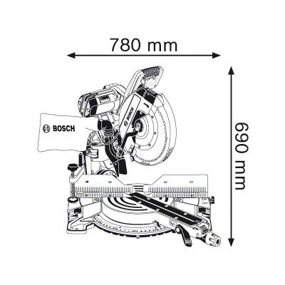 габариты Bosch GCM 12 GDL