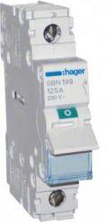 Выключатель нагрузки 1-полюсный 125А/230В, 1м