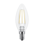 LED лампочка C37 FM-C 4Вт Maxus 3000К (filam), Е14