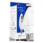 Лампа LED C37 CL-F 5Вт 3000К Е14 Maxus серия Global