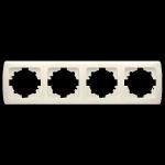 Рамка четырехместная VIKO горизонтальная Carmen кремовая