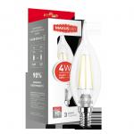 Лампа LED 1-LED-539 C37 4Вт Maxus (Filament) 3000К, Е14