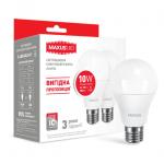 Набор LED ламп А60 10Вт Maxus 4100К, Е27