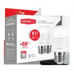 Набор ламп G45 6Вт Maxus 3000К, Е27