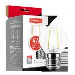 LED лампочка G45 4Вт Maxus (Filament) 4100К, Е27