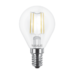 Лампочка LED G45 4Вт Maxus (Filament) 3000К, Е14