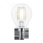 Лампа светодиодная G45 4Вт Maxus (Filament) 4100К, Е14