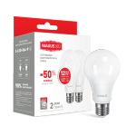 Набор LED ламп А65 12Вт Maxus 4100К, Е27