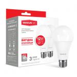 Набор LED ламп А65 12Вт Maxus 3000К, Е27