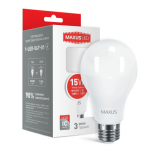Лампа светодиодная 1-LED-567 А70 15Вт Maxus 3000К, Е27