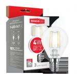 Лампочка LED 1-LED-547 G45 4Вт Maxus (Filament) 3000К, Е14