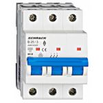Автоматический выключатель 25А 3P 6кА х-ка B, Schrack