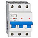 Автоматический выключатель 20А 3P 6кА С, Schrack Technik