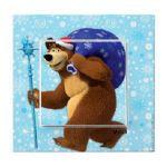 Выключатель 1-клавишный Медведь с Подарками VIKO Karre Kids, 90962704