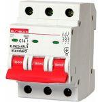 Модульный автоматический выключатель e.mcb.stand.45.3.C16