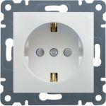 Розетка с защитой контактов, WL1060 Lumina-2, белая, Hager
