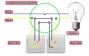 Популярные варианты схем управления освещением из нескольких мест