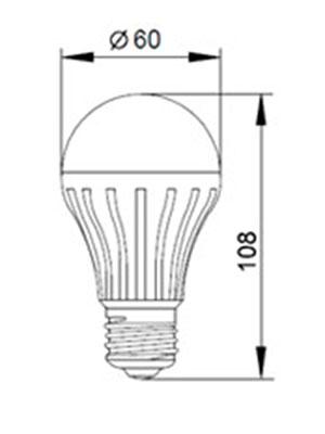 Светодиодные лампы ECO A60 230В E27 IEK